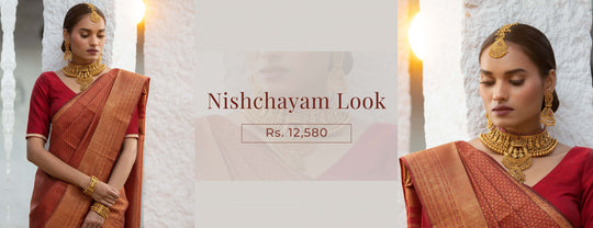 kushals.com - Antique Red Saree Look- Series 11 Jewelry starting at just ₹1450