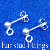 Ear studs fitting from www.whitby4u.com