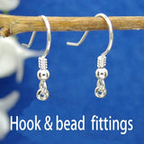 Jet drop earrings 14