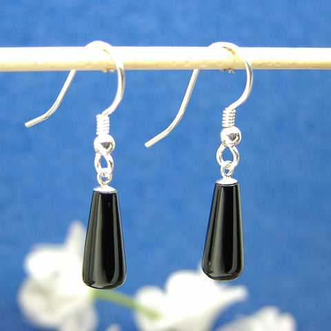 Jet drop earrings 10