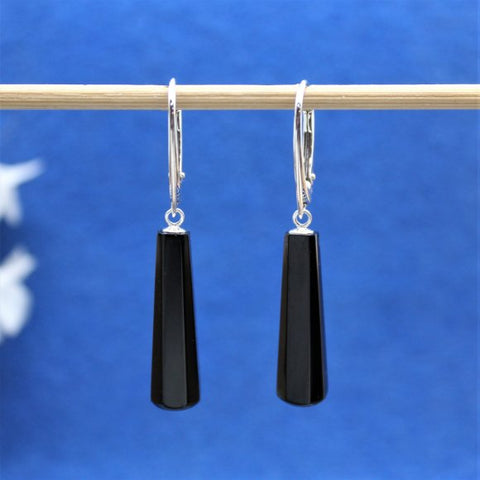 Jet drop earrings 28