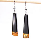 Jet drop earrings 18