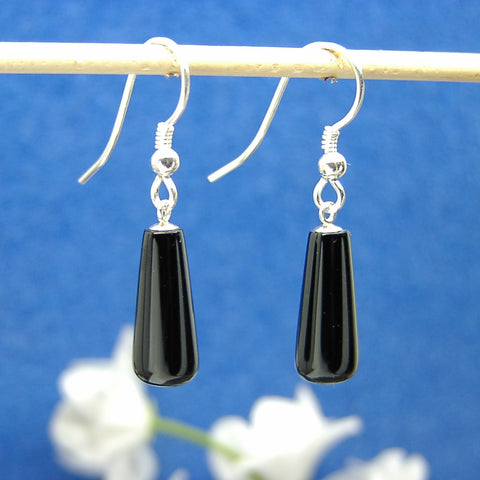 Jet drop earrings 02