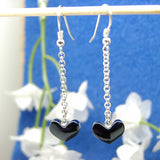 Jet drop earrings 12