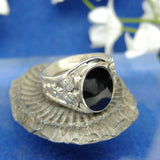 Mens heavy 4 leaf ring