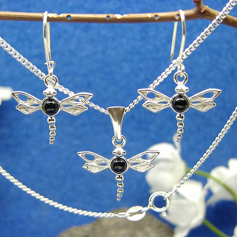 Filigree dragonfly set