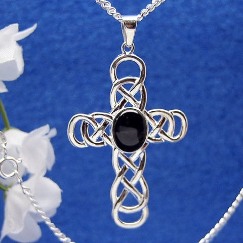 Celtic weave cross