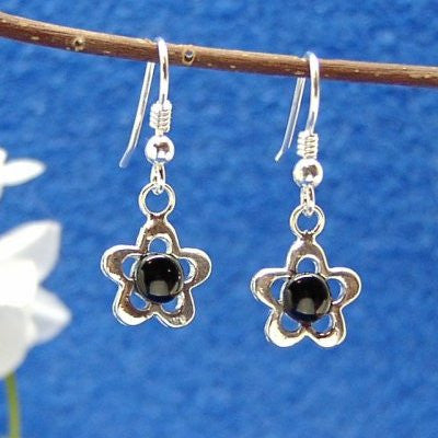 Daisy star Jet earrings
