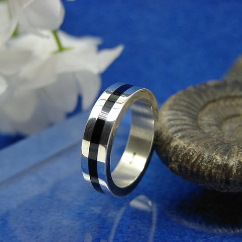 Silver Inlaid ring