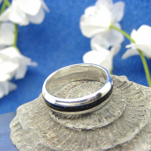 Silver 8mm band ring