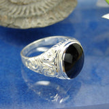 Mens Scrolled ring