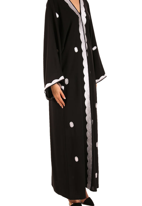 Embroidery Edges Abaya - dukkanmeem  - 1