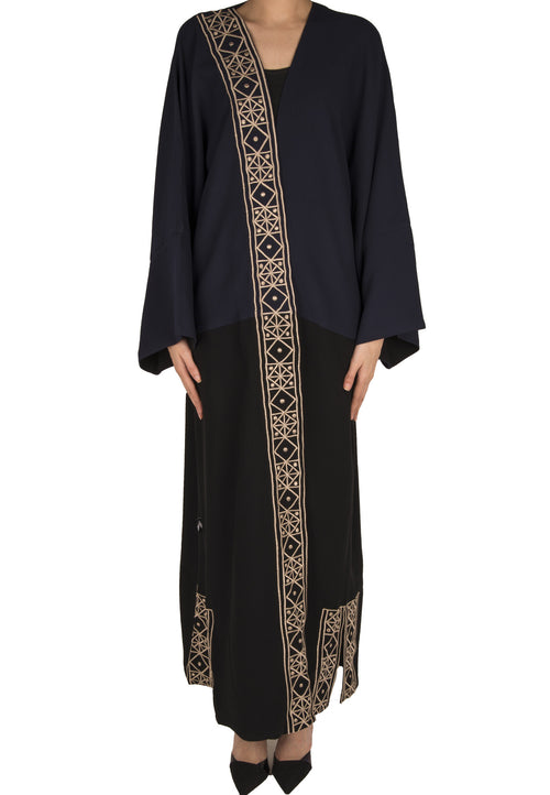Side Embroidery Abaya - dukkanmeem  - 2