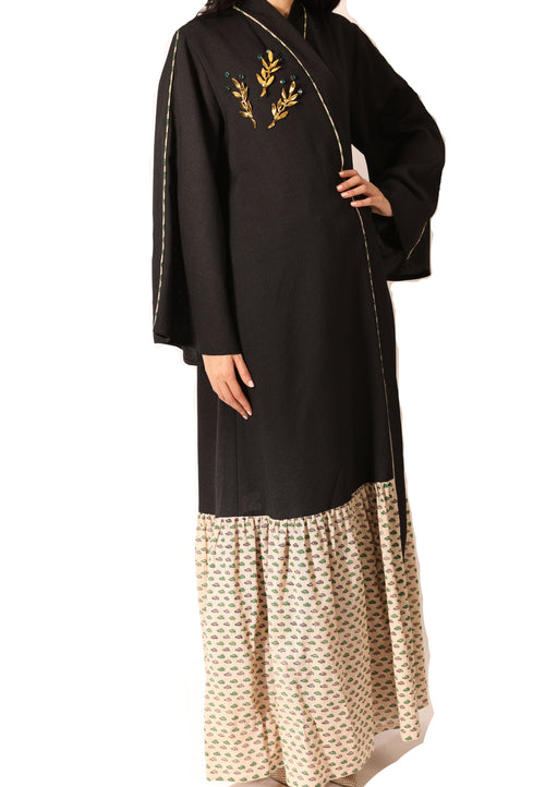 Golden Leave Abaya