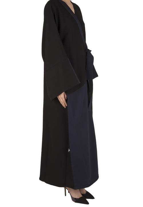 Half and Half Abaya - dukkanmeem  - 1