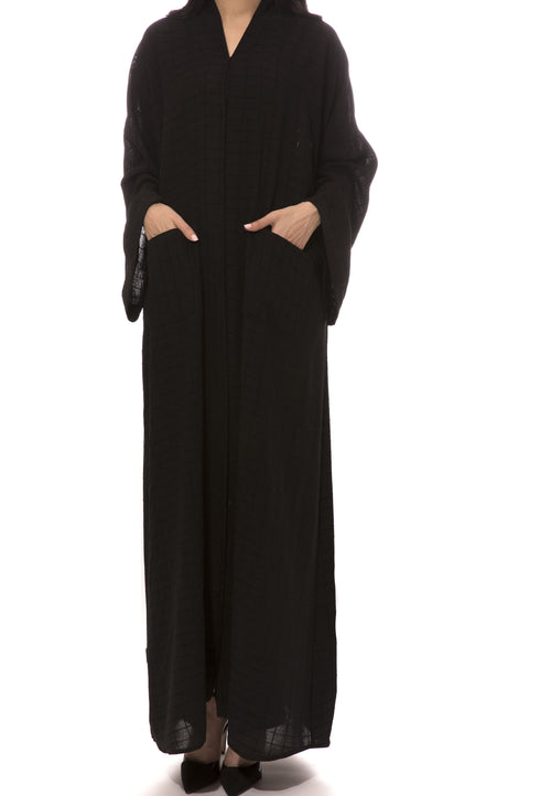 Black Checkers Abaya