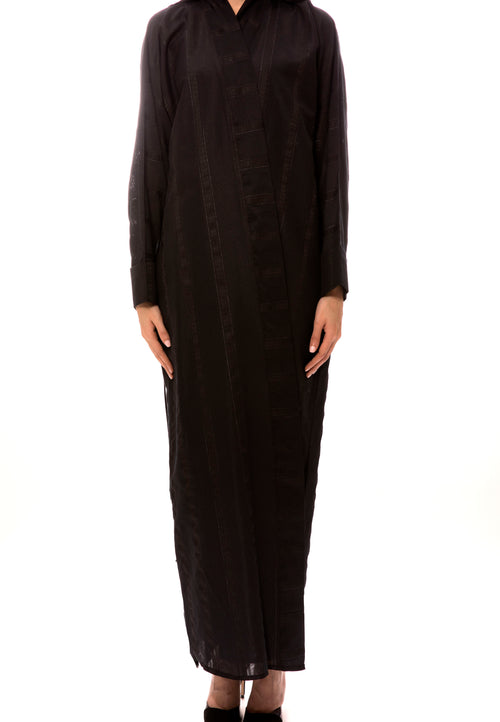 Hidden Strip Abaya