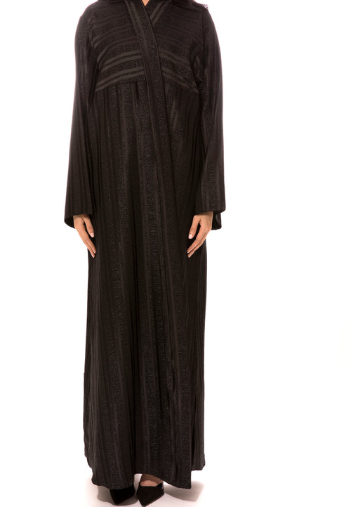 Shiny Strip Abaya