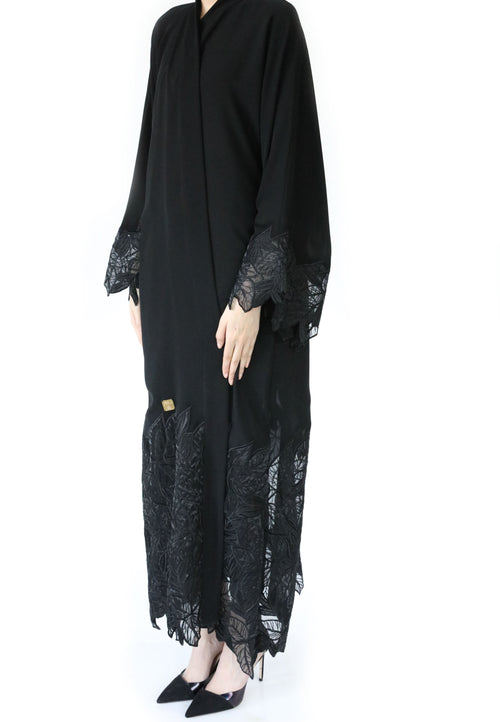 Lace Bottom Abaya