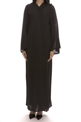 All Black Abaya
