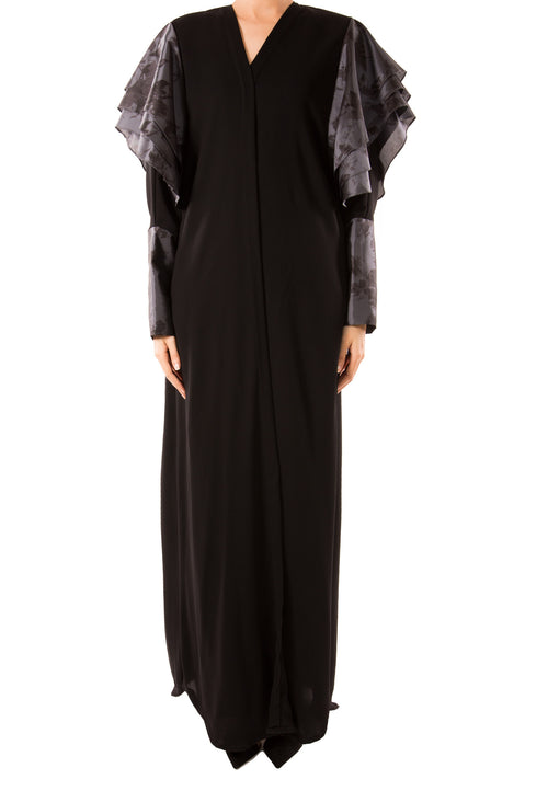 Layered Sleeve Abaya - dukkanmeem  - 2