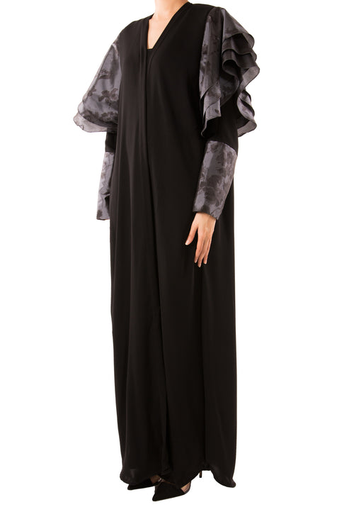 Layered Sleeve Abaya - dukkanmeem  - 1