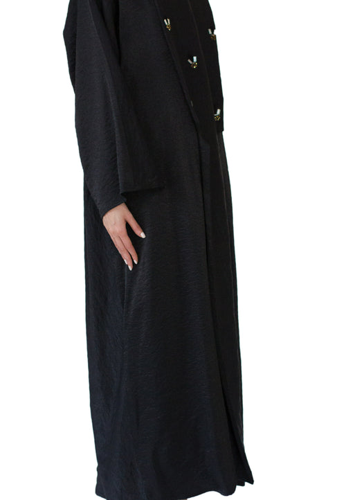 Beaded Black Abaya