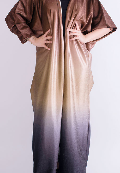 Brown Ombre Abaya