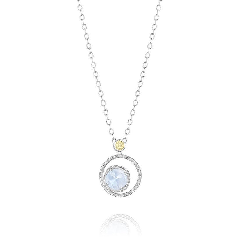 Bold Bloom Necklace featuring Chalcedony by Tacori