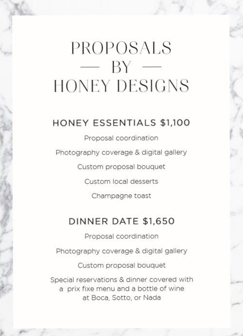 Proposals by Honey Designs