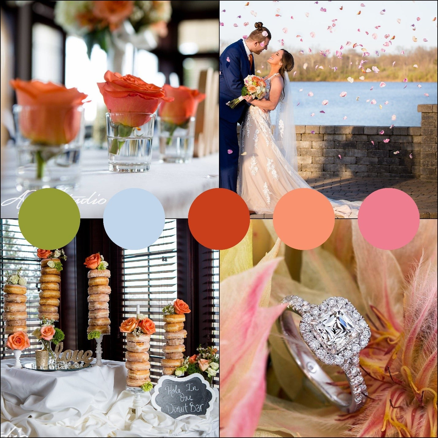 Summer Wedding Color Palettes Pops of Peach