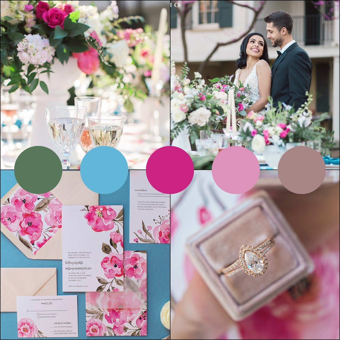 Summer wedding color palettes endless romance