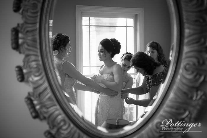 Getting Ready Wedding Photograph Cincinnati OH