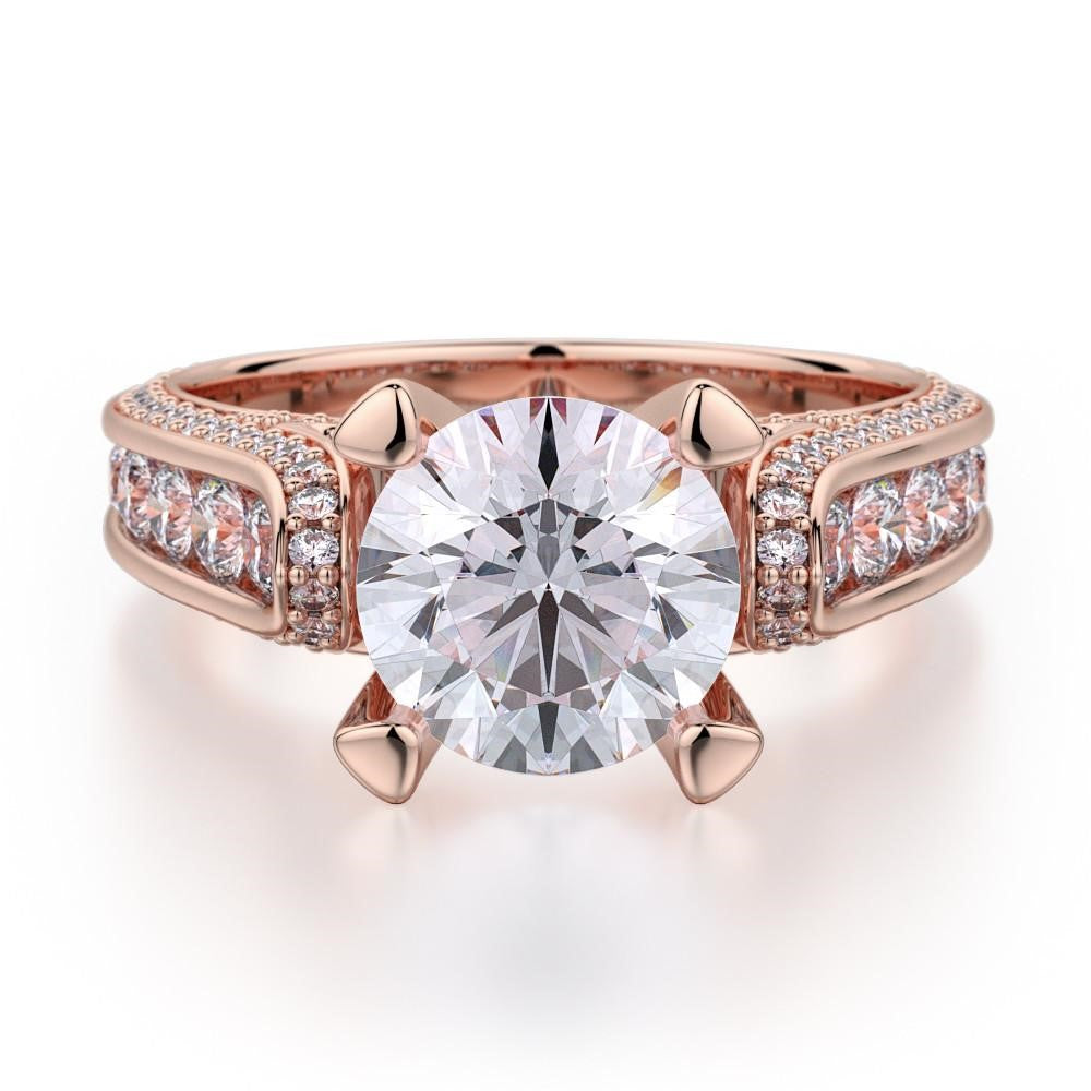 Rose Gold Diamond Engagement Ring Richter & Phillips Jewelers Cincinnati OH