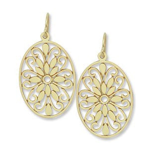Yellow Gold Floral Drop Earrings