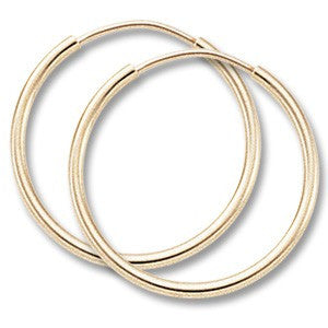 Yellow Gold Endless Hoops