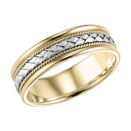 6mm Two-Tone wedding ring