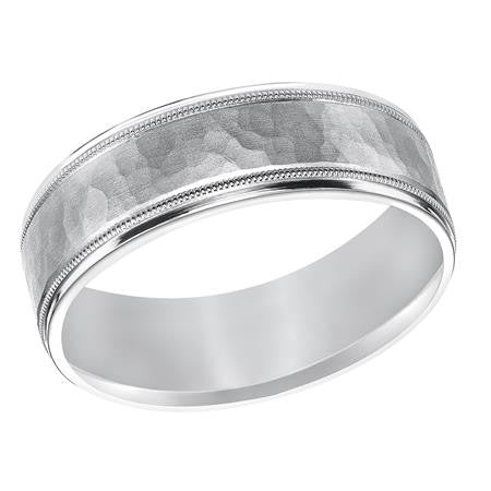 7mm palladium wedding band