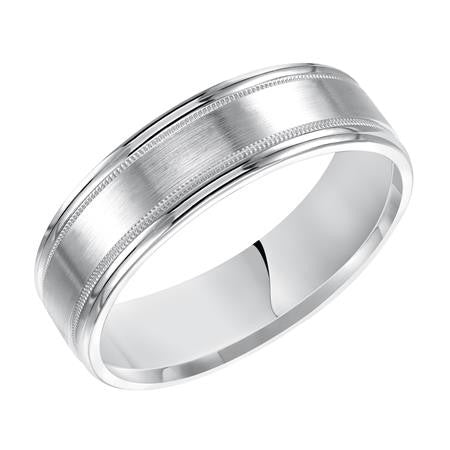 6.5mm white gold wedding ring