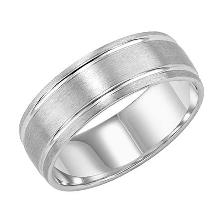 7mm white gold wedding ring