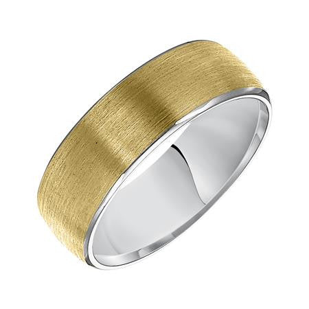 7mm two-tone wedding ring