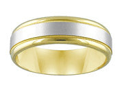 Two Tone 6.5mm Wedding Band