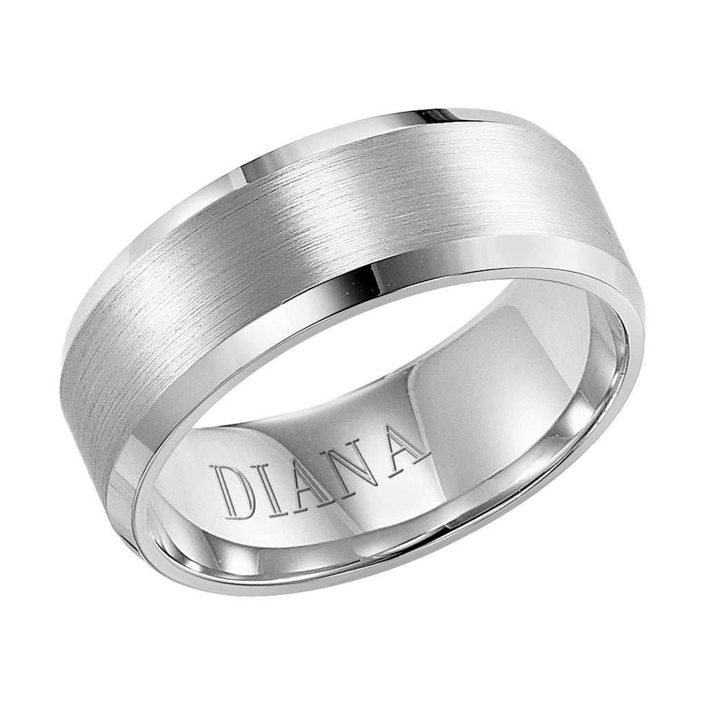 White Gold 8mm Wedding ring