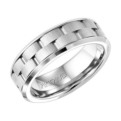 White Tungsten Carbide 8mm Wedding ring
