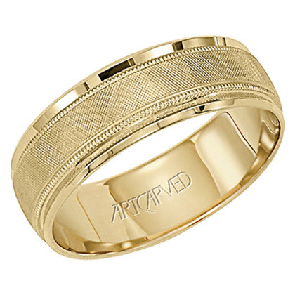 Yellow Gold 7mm Wedding Band