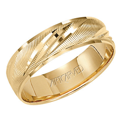 Yellow Gold 6mm Wedding ring
