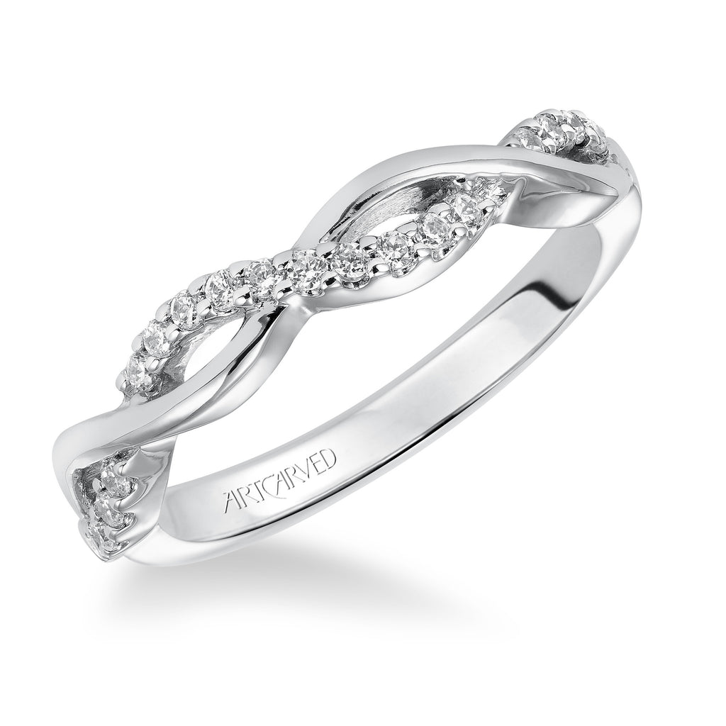 Diamond Twist Design Wedding ring