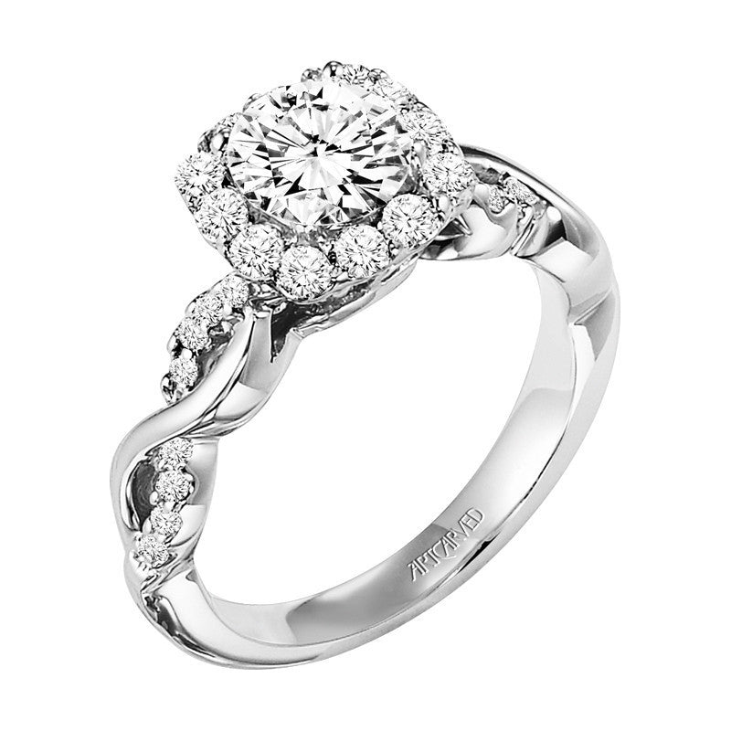 Diamond Halo Design Engagement Ring