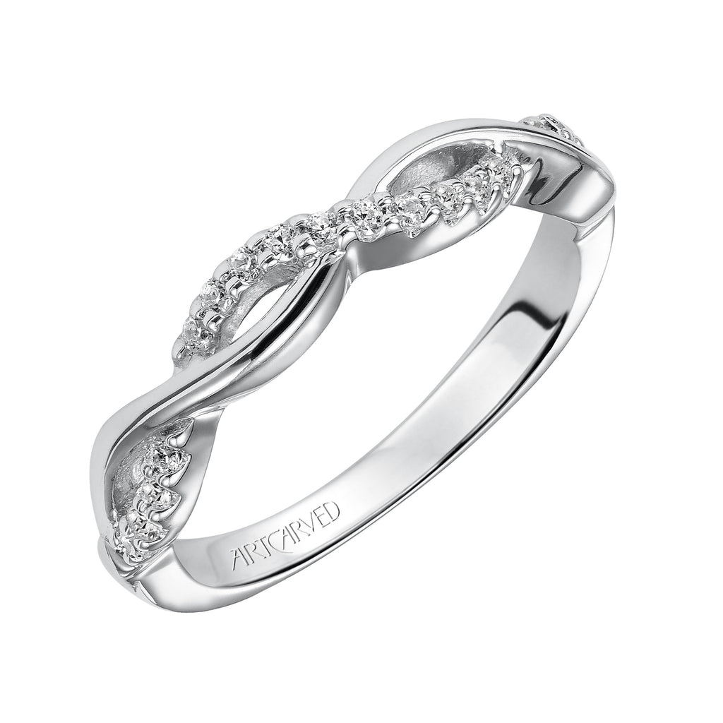 Diamond Twist Design Wedding Band