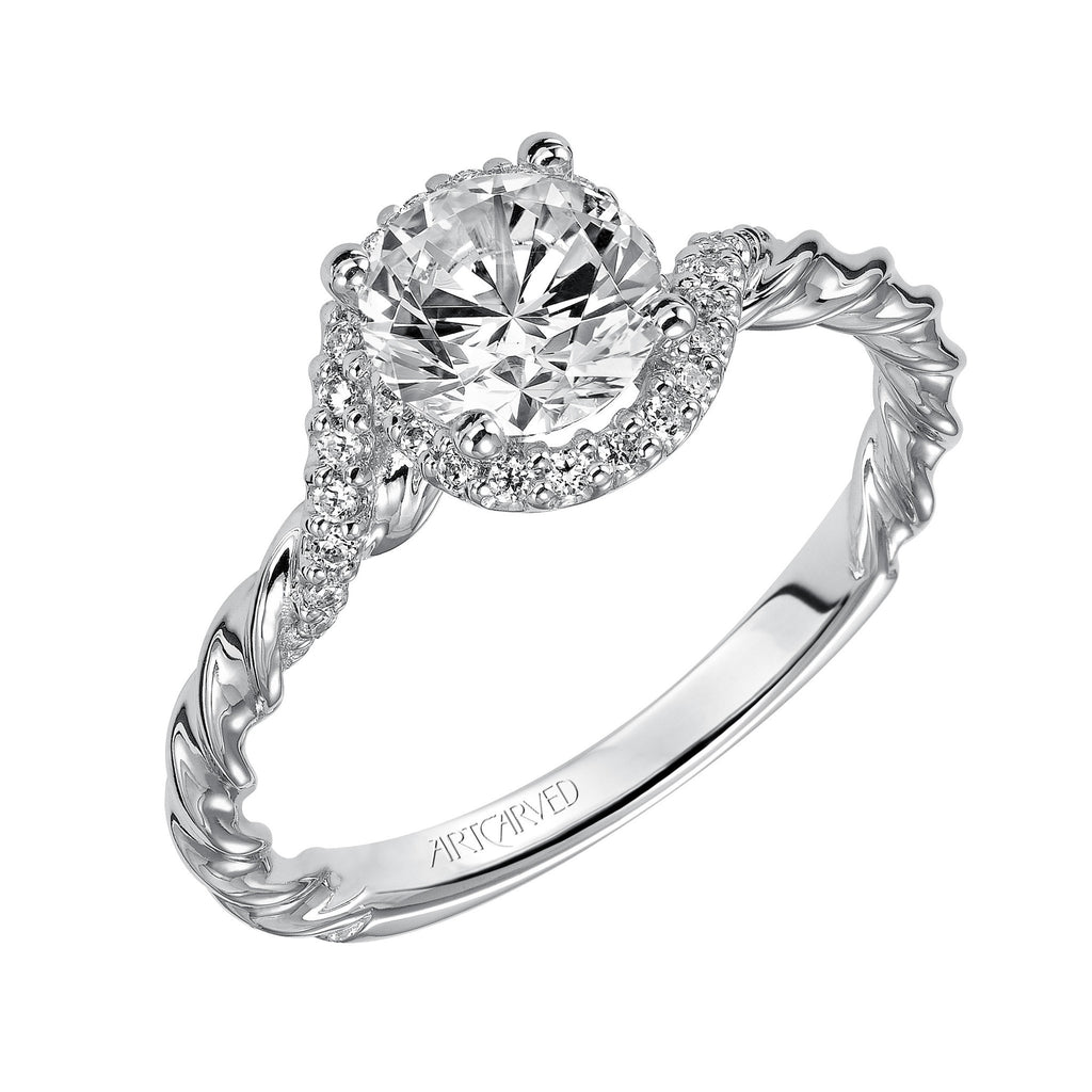 Contemporary Bypass Engagement Ring